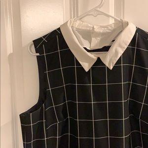 Halogen Sleeveless Collared Modern Work Dress
